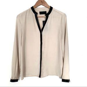 Blaque label button sheer blouse